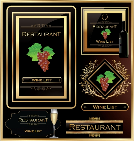 Wine list elegant design Vector