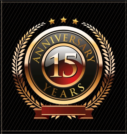 15: 15 years Anniversary golden label
