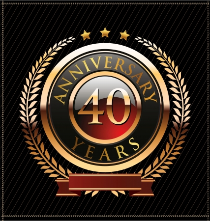 40 years anniversary golden label Stock Vector - 19463360