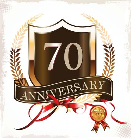70 years anniversary golden label Stock Vector - 19466017
