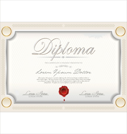 Certificate template Stock Vector - 19466051
