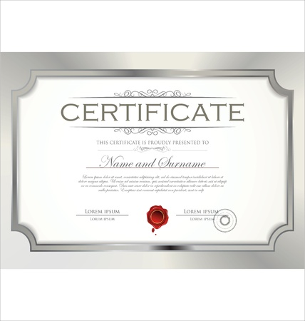 Certificate template Stock Vector - 19465975