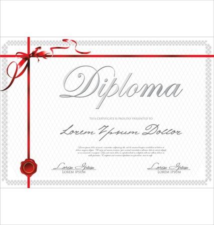 golden laurel wreath: Certificate template Illustration