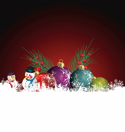 Christmas background vector image Vector