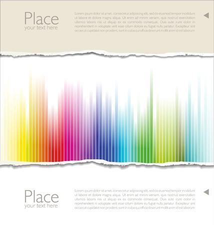 cardboard: Papier d�chir� color� Illustration