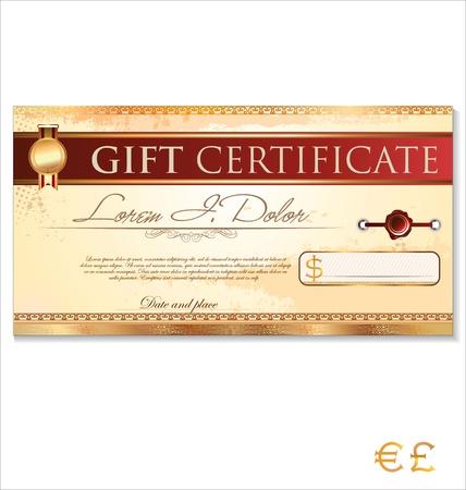 coupon: Zertifikat-Vorlage