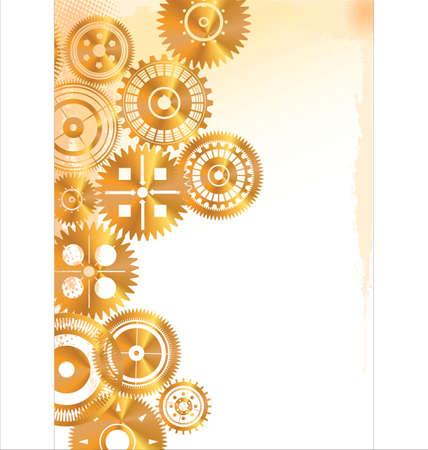 precise: Golden gears background