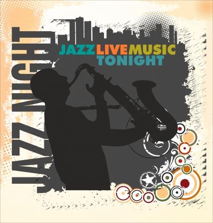 baseman: Jazz background Illustration