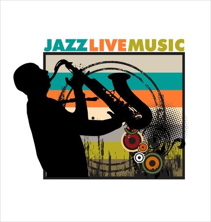 fest: Jazz background Illustration