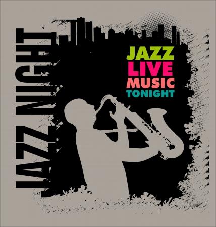 jazz club: Jazz background Illustration