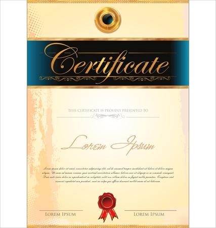 certificado: Plantilla de certificado Vectores