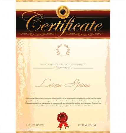 stock certificate: Certificate template Illustration