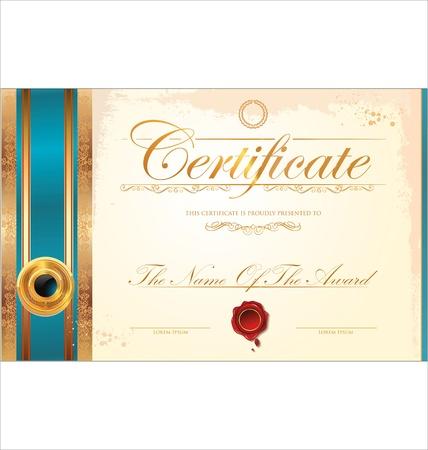 diploma: Plantilla de certificado Vectores