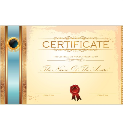 Certificate template Stock Vector - 19466041