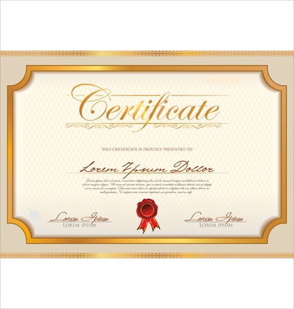 formal blue: Certificate template Illustration