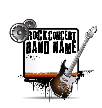 concert crowd: Rock concert poster