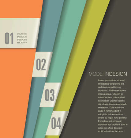 paper cut out: Modern design template