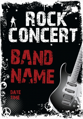 rock band: Rock concert grunge banner