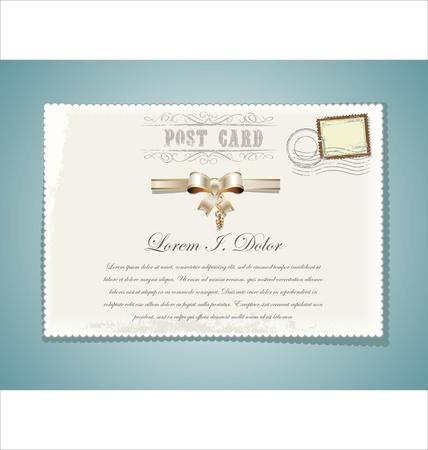 Carte Postale design rétro