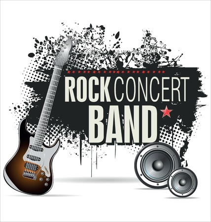 rock concert: Rock concert grunge banner