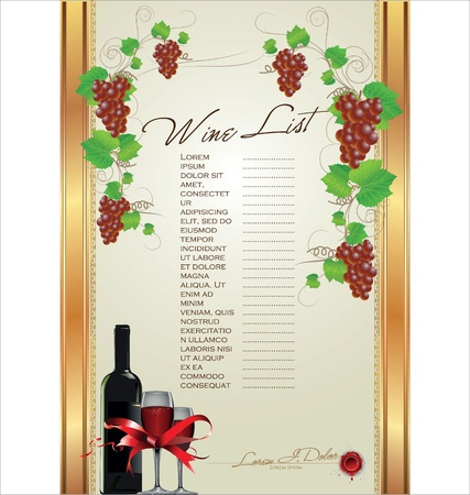 Wine List Menu Card