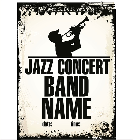 Music background - JAZZ concert Stock Vector - 19510887