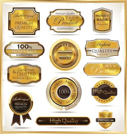 Luxe gouden etiketten