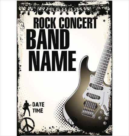 music background: rock concert poster