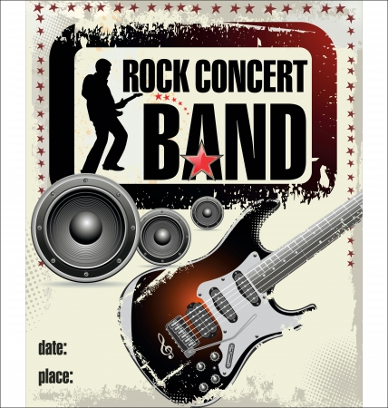 band instruments: rock concert poster