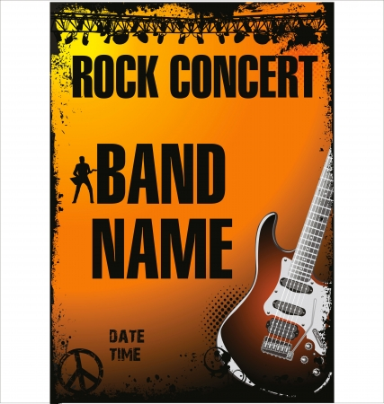 band music: Rock concert poster