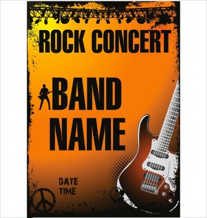 rock singer: Rock concert poster
