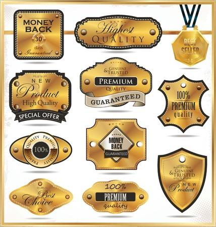 best seller: Luxury golden labels Illustration