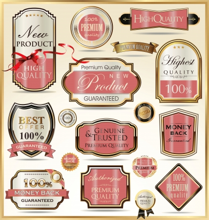set free: Luxury golden labels Illustration