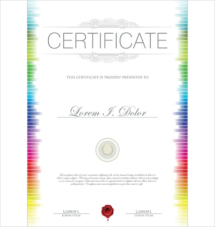 certificates: Colorful Certificate template Illustration