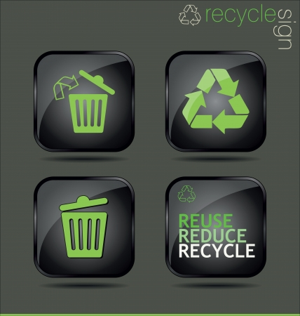 clean environment: Recycle sign