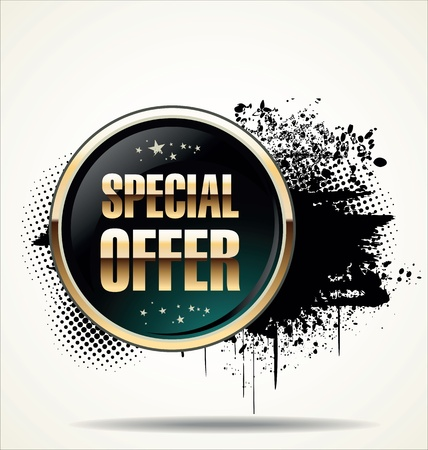 offer icon: Special offer grunge banner