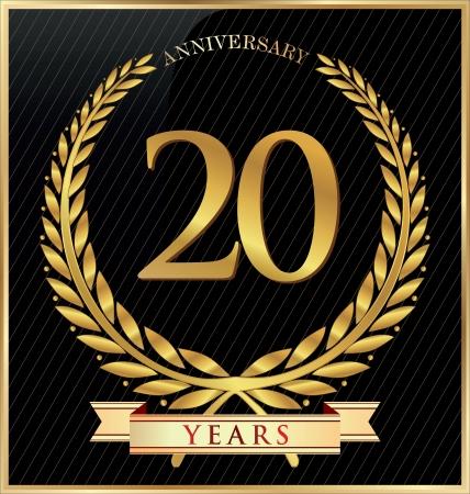 Anniversary or jubilee golden laurel wreath Stock Vector - 19510976