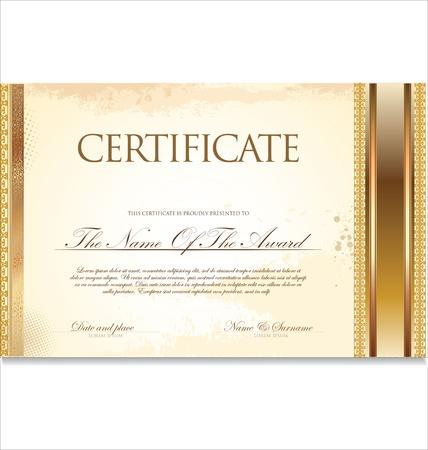 Certificate template Stock Vector - 19510950