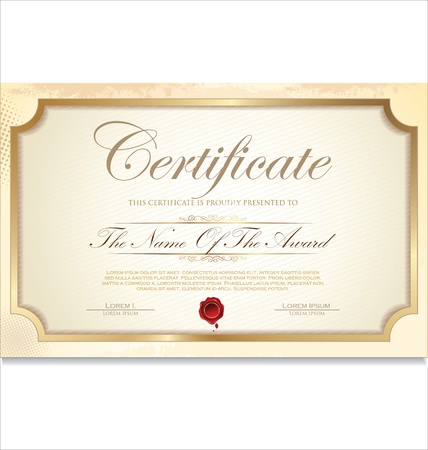 Certificate template Stock Vector - 19510941