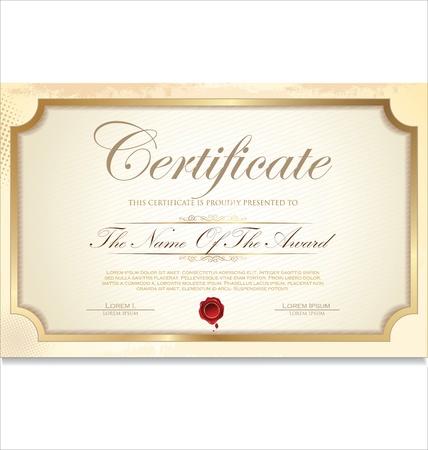 Certificate template Stock Vector - 19510941