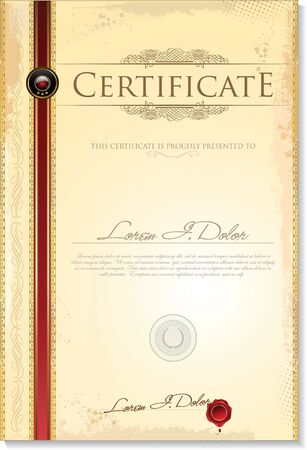 shares: Certificate template Illustration