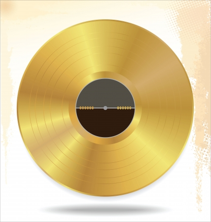 Gold vinyl - music award Vector