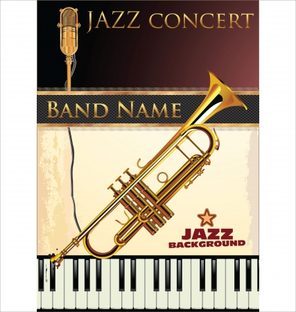 Jazz music background Stock Vector - 19510955