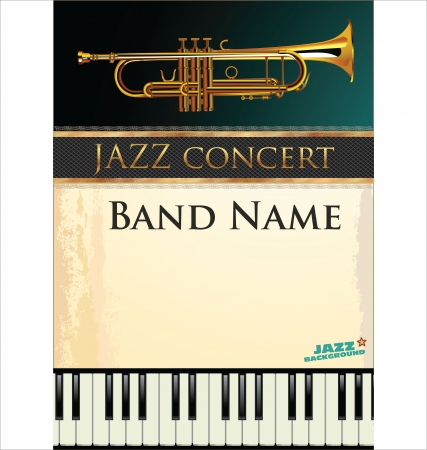 Jazz music background Stock Vector - 19510947