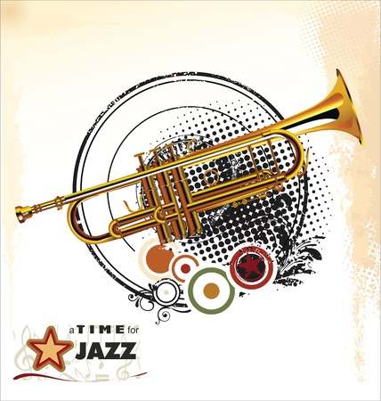 Jazz music background Stock Vector - 19510939
