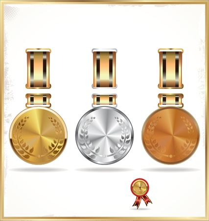 Medals Gold, Silver and bronze Vector