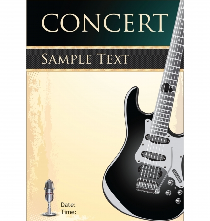 music poster: Rock concert background