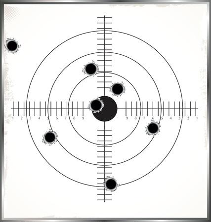 geweer: Doel met kogelgaten