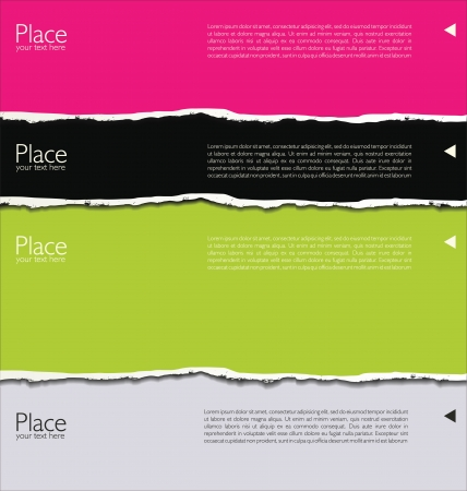 page turn: Torn paper background with space for text