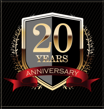 20 years: Anniversary golden label